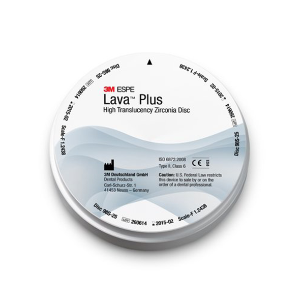 Lava Plus High Translucency Zirconia 3m Espe